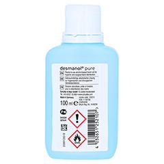 DESMANOL pure Händedesinfektion Lösung 100 Milliliter - Rückseite