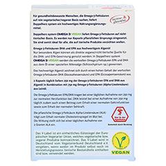 DOPPELHERZ Omega-3 vegan system Kapseln 60 Stück - Rückseite