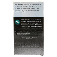 MEN'S HEALTH Pro Vital D3 Max Tabletten 12 Stück - Rückseite