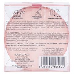R&G Rose Seife 100 Gramm - Rückseite
