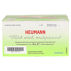 HEUMANN Tee fühl dich entspannt Filterbeutel 20 Stück - Rückseite