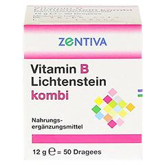 VITAMIN B Lichtenstein Kombi Dragees 50 Stück - Rückseite