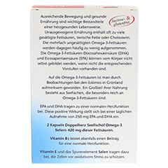 DOPPELHERZ Seefischöl Omega-3 700 mg Kapseln 120 Stück - Rückseite