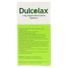 Dulcolax Dragees 5mg 20 Stück - Rückseite