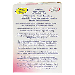 Doppelherz aktiv Heiße Cranberry mit Vitamin C + Zink 10 Stück - Rückseite