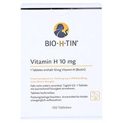 BIO-H-TIN Vitamin H 10mg 100 Stück N3 - Rückseite