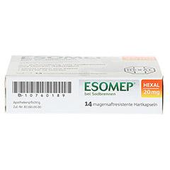 ESOMEP HEXAL bei Sodbrennen 20mg 14 Stück - Unterseite