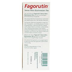 FAGORUTIN Venen-Aktiv-Buchweizen-Tee Filterbeutel 25 Stück - Unterseite