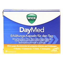 WICK DayMed Erkältungs-Kapseln für den Tag + gratis medpex Taschentücher 20 Stück - Vorderseite
