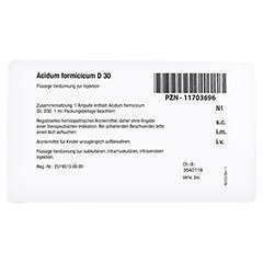 ACIDUM FORMICICUM D 30 Ampullen 8x1 Milliliter N1 - Rückseite