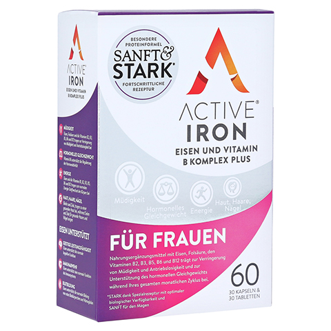 ACTIVE IRON Eisen und Vitamin B Komplex plus 60 Stück