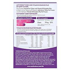 ACTIVE IRON Eisen und Vitamin B Komplex plus 60 Stück - Rückseite
