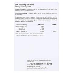 EPA 1000 mg Dr.Wolz Kapseln 60 Stück - Rückseite