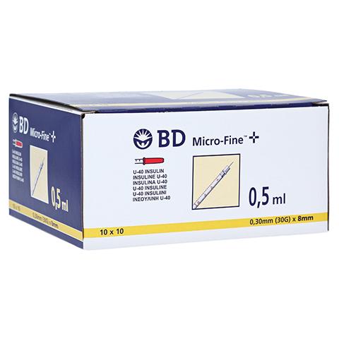 BD Micro-fine + Insulinspritze 0,5 ml U40 100x0.5 Milliliter