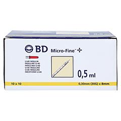 BD Micro-fine + Insulinspritze 0,5 ml U40 100x0.5 Milliliter - Vorderseite