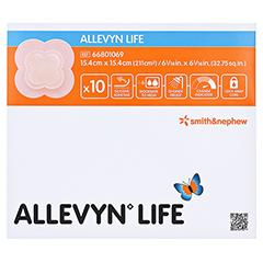 ALLEVYN Life 15,4x15,4 cm Silikonschaumverband 10 Stück - Vorderseite