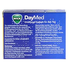 WICK DayMed Erkältungs-Kapseln für den Tag + gratis medpex Taschentücher 20 Stück - Rückseite