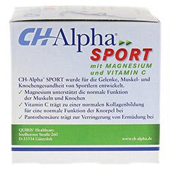 CH ALPHA Sport Trinkampullen 30 Stück - Linke Seite
