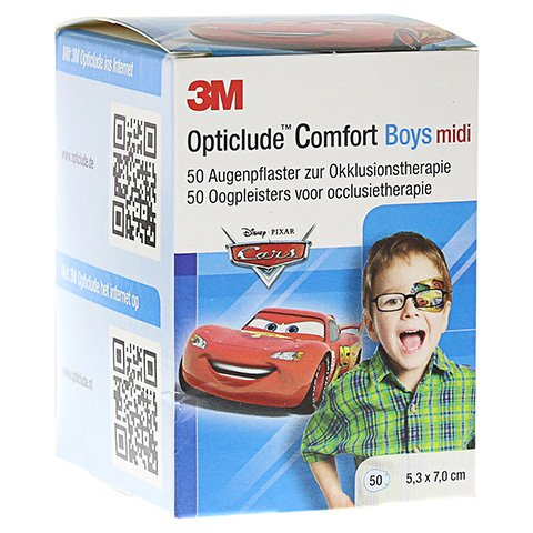 Opticlude 3M Comfort Disney Pflaster Boys midi 50 Stück