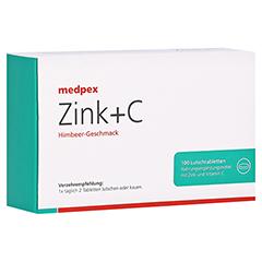 medpex Zink+C Himbeer 100 Stück