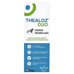 THEALOZ Duo Augentropfen 10 Milliliter - Vorderseite