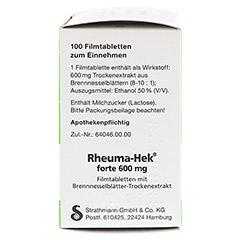 Rheuma-Hek forte 600mg 100 Stück N3 - Linke Seite