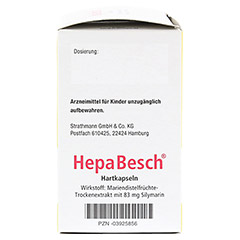 HepaBesch Hartkapseln 100 Stück N3 - Rechte Seite