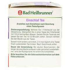 BAD HEILBRUNNER Einschlaf Tee Filterbeutel 8x2.0 Gramm - Rechte Seite