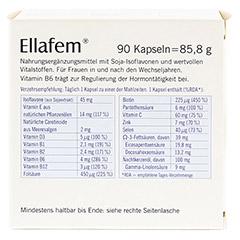 ELLAFEM Kapseln 90 Stück - Rückseite