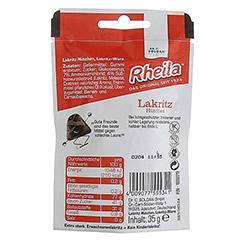 RHEILA Lakritz Hütchen mit Zucker 35 Gramm - Rückseite