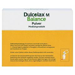 DULCOLAX M Balance Pulver Medizinprodukt 20x10 Gramm - Rückseite