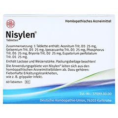 NISYLEN Tabletten 60 Stück N1 - Rückseite