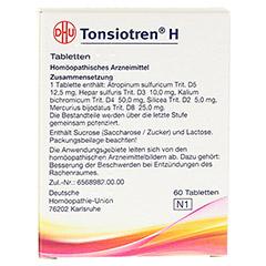 TONSIOTREN H Tabletten 60 Stück N1 - Rückseite