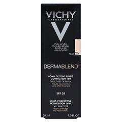 VICHY DERMABLEND Make-up 25 + gratis Vichy Slow Age Creme 15 ml 30 Milliliter - Rückseite