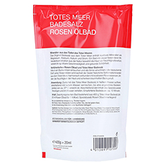 DERMASEL Totes Meer Badesalz+Rose SPA 1 Packung - Rückseite
