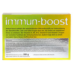 IMMUN-BOOST Orthoexpert Trinkgranulat 28x10.2 Gramm - Rückseite