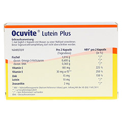 OCUVITE Lutein Plus Kapseln 60 Stück - Rückseite