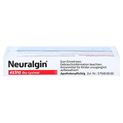 Neuralgin extra Ibu-Lysinat 20 Stück - Unterseite