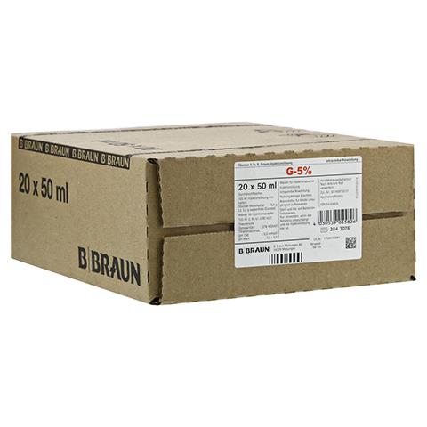 GLUCOSE 5% B.Braun Injektionslösung 20x50 Milliliter N3