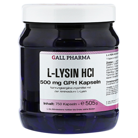 L-LYSIN 500 mg GPH Kapseln 750 Stück