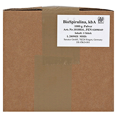 BIOSPIRULINA Mikroalgen Pulver 1000 Gramm - Vorderseite