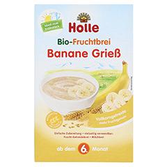 HOLLE Bio Fruchtbrei Banane Grieß 250 Gramm - Vorderseite
