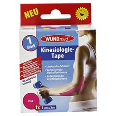 KINESIOLOGIE Tape 5 cmx5 m pink 1 Stück - Vorderseite