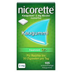 Nicorette 2mg freshmint 105 Stück - Vorderseite