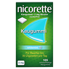Nicorette 2mg whitemint 105 Stück - Vorderseite