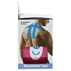 KINESIOLOGIE Tape 5 cmx5 m pink 1 Stück - Linke Seite