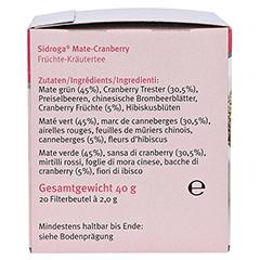 SIDROGA Wellness Mate-Cranberry Tee Doppelkammerb. 20x2.0 Gramm - Rechte Seite