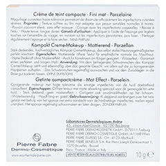 Avène Couvrance Kompakt Creme-Make-up mattierend porzellan 10 Gramm - Rückseite