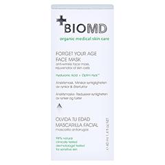 BIOMED Vergiss dein Alter Gesichtsmaske 40 Milliliter - Rückseite