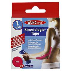 KINESIOLOGIE Tape 5 cmx5 m pink 1 Stück - Rückseite